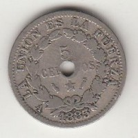 5 сентаво, Боливия, 1883