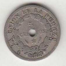 5 сентаво, Боливия, 1883, numismatico.ru