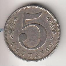монета 5 сентаво, Колумбия, 1886год, стоимость , цена