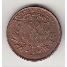 50 сентаво, Боливия, 1942, numismatico.ru