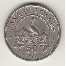 монета 50 центов, Уганда, 1966год , стоимость , цена