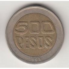 монета 500 песо, Колумбия, 1995год, стоимость , цена