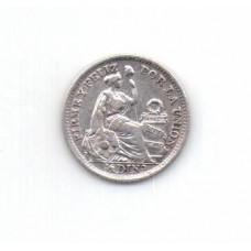 1/2 динеро, Перу, 1916