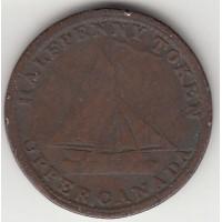 1/2 пенни, токен Верхней Канады, 1820