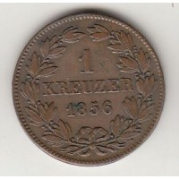 1 крейцер, Баден, 1856