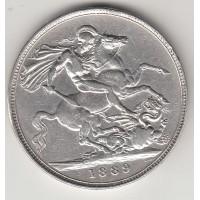 1 крона, Великобритания, 1889