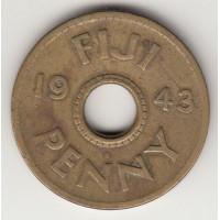 1 пенни, Фиджи, 1943