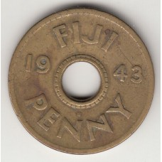 1 пенни, Фиджи, 1943, пенни, Ð