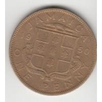 1 пенни, Ямайка, 1950