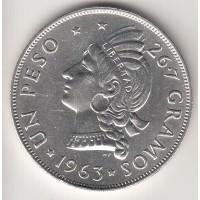 1 песо, Доминиканская Республика, 1963