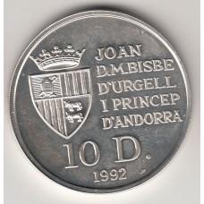 10 динеров, Андорра, 1992
