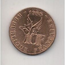 10 франков, Франция, 1988