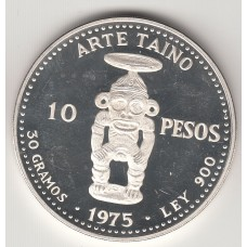10 песо, Доминиканская республика, 1975