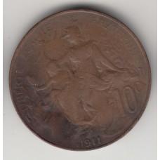 10 сантимов, Франция, 1911