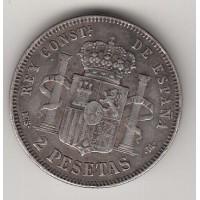 2 песеты, Испания, 1882