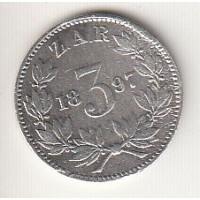 3 пенса, ЮАР (Бурская республика), 1897
