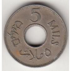 монета 5 милей, Палестина, 1935год , стоимость , цена