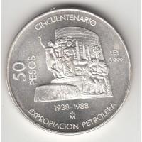 50 песо, Мексика, 1988