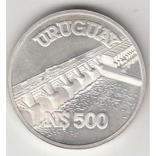 500 новых песо, Уругвай, 1983