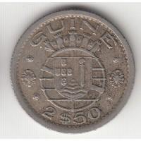 2,5 эскудо, Португальская Гвинея, 1952