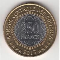 250 франков, Коморские острова, 2013