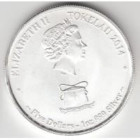 5 долларов, Токелау, 2014