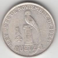 1/4 кетсаля, Гватемала, 1929 г.