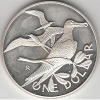 1 доллар Каймановы острова, 1973