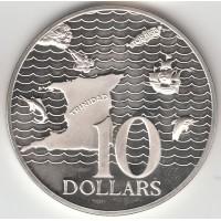10 долларов, Тринидад и Тобаго, 1979
