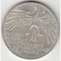 10 марок, ФРГ, 1972
