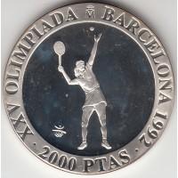 2000 песет, Олимпиада, теннис, Испания, 1992