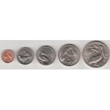 набор монет 1-50 центов, Британские Виргинские острова, 1974