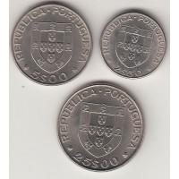 """набор монет (2,5,5,25 эскудо) """"Александро Геркулано"""", Португалия, 1977"""