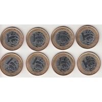 набор монет (8), Бразилия, 2014-2015