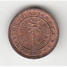 1/4 цента, Цейлон, 1890