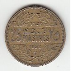 25 пиастров, Ливан, 1952