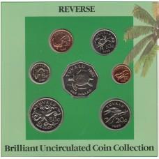 Набор монет Тувалу (7 штук), 1985