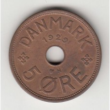 5 эре, Дания, 1920