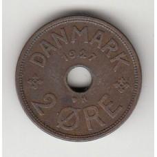 2 эре, Дания, 1927