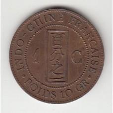 1 цент, Французский Индокитай, 1892