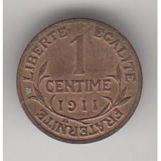 1 сантим, Франция, 1911