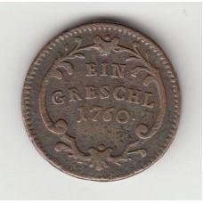 1 грош, Австрия (Богемия), 1760