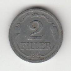 2 филлера, Венгрия, 1943