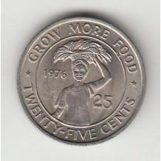 25 центов, Либерия, 1975