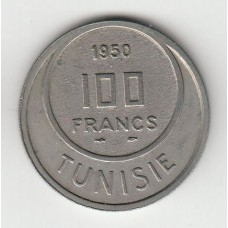 100 франков, Тунис, 1950