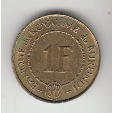 1 франк, Бурунди, 1965