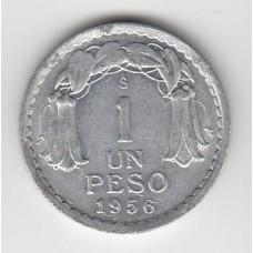 1 песо, Чили, 1956
