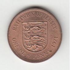 1 новый пенни, Джерси, 1971