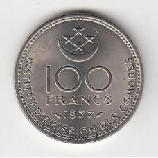 100 франков, Коморские острова, 1977