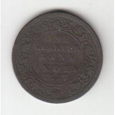 1/4 анны, Британская Индия, 1877